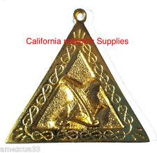 Scottish Rite Officers Jewel Secretary Golden Memphis Misraim Rite Freemasonry