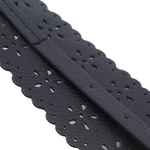 Fashion Womens Faux Leather Hollow Wide Waist Belt Waistband Band Jian