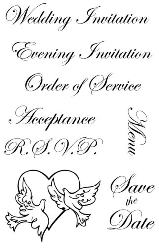 Weddings Unmounted Rubber Stamps