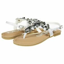 17b68670922 bebe Girls Big Kid Summer Flat Slingback Sandals T Strap Thong Shoes With.
