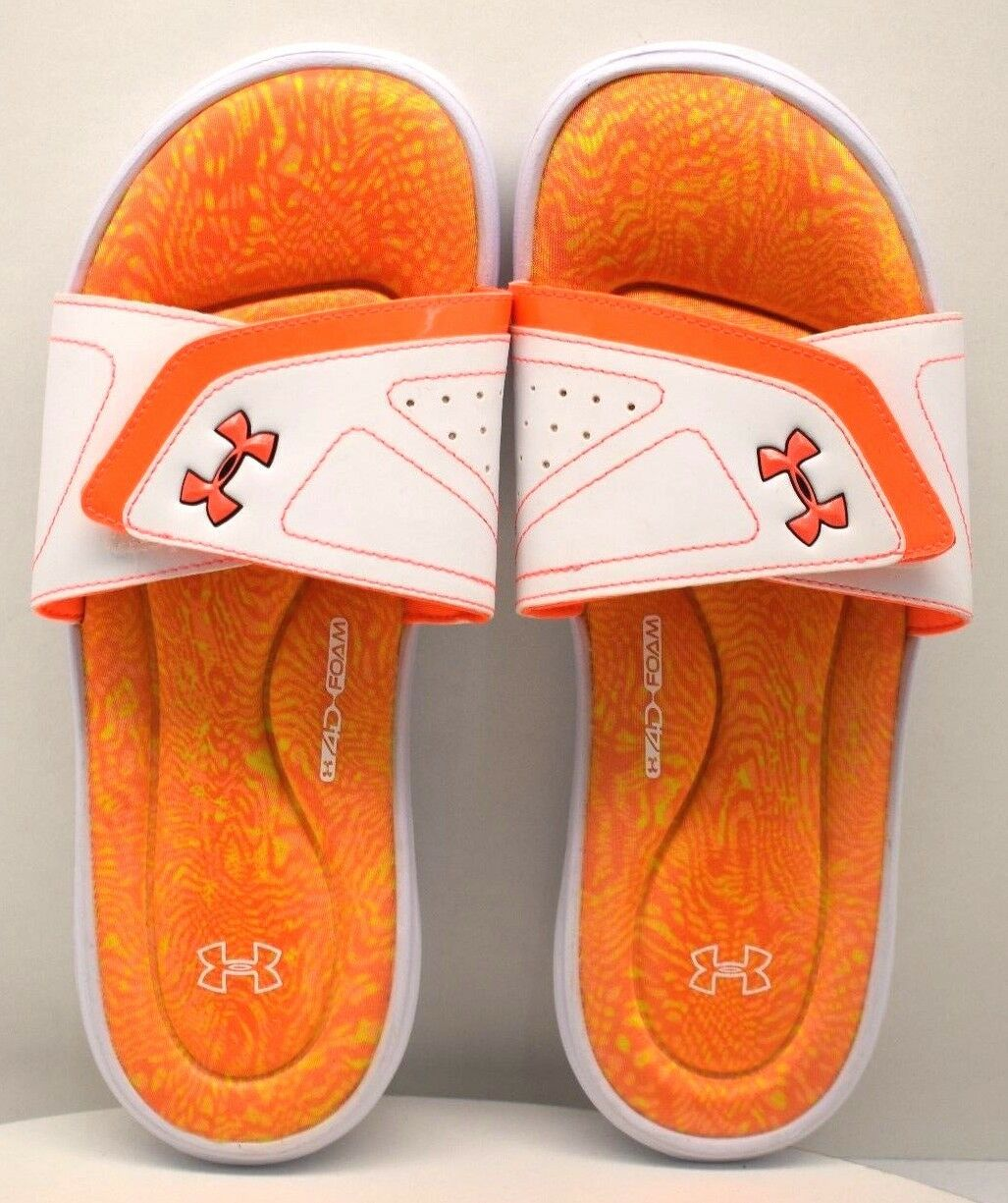 Under Armour Ignite Swirl Size Slide Orange White US Size Swirl 11 FREE SHIPPING BRAND NEW 18a9a4