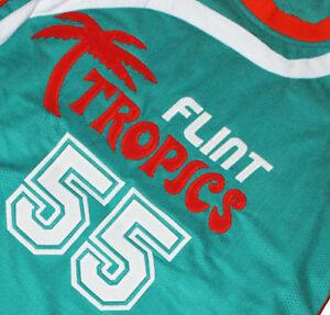 9be4adac357e SEMI PRO MOVIE Jersey VAKIDIS  55 FLINT TROPICS Teal Green NEW ANY ...