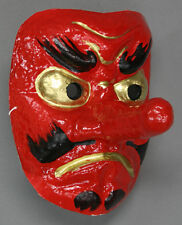 Japanese Tengu Mask Omen Noh Kabuki Samurai Demon Made in Japan