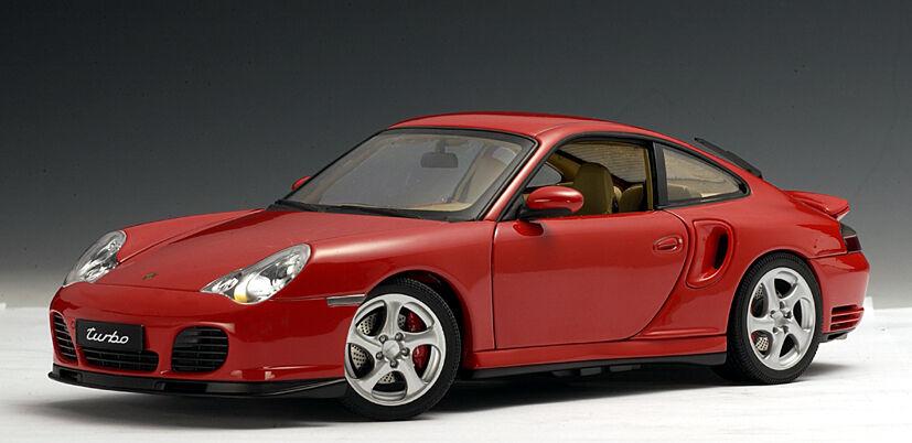 Porsche 996 Turbo >> Porsche 911 996 Turbo Coupe Red By Autoart 77831 1 18 New In Box Has Shelfwear