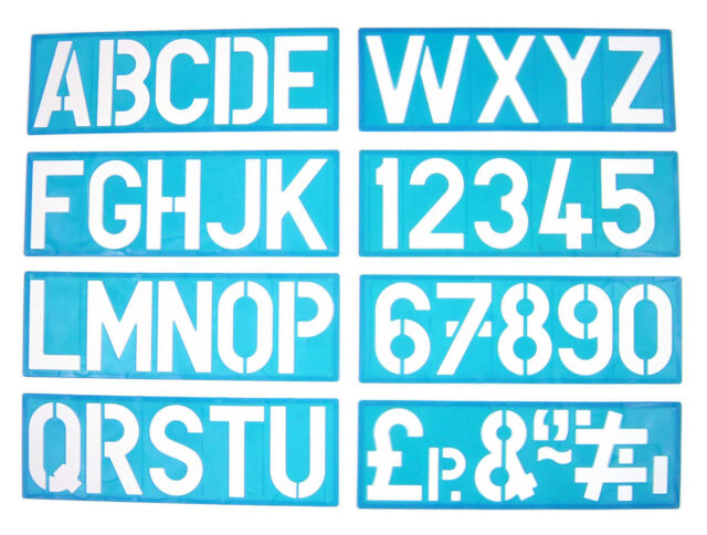 100mm Alphabet Stencil Signwriting Upper Case Numbers | eBay