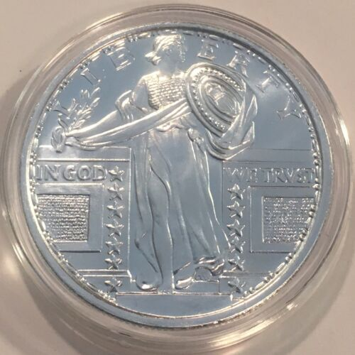 New Sealed  #3127 1oz STANDING LIBERTY DESIGN .999 FINE SILVER ROUND