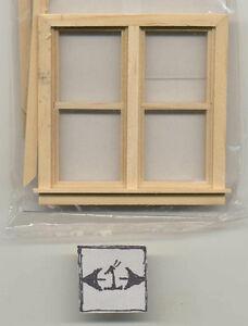 Window Round Half Scale 1:24 Dollhouse wooden #H5052 Houseworks