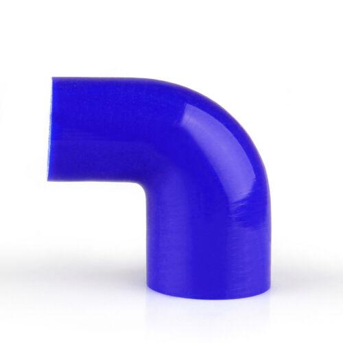 Elbow 90 Degree 51mm 57mm Silicone Tuyau Coupler Intercooler Turbo Intake Blue