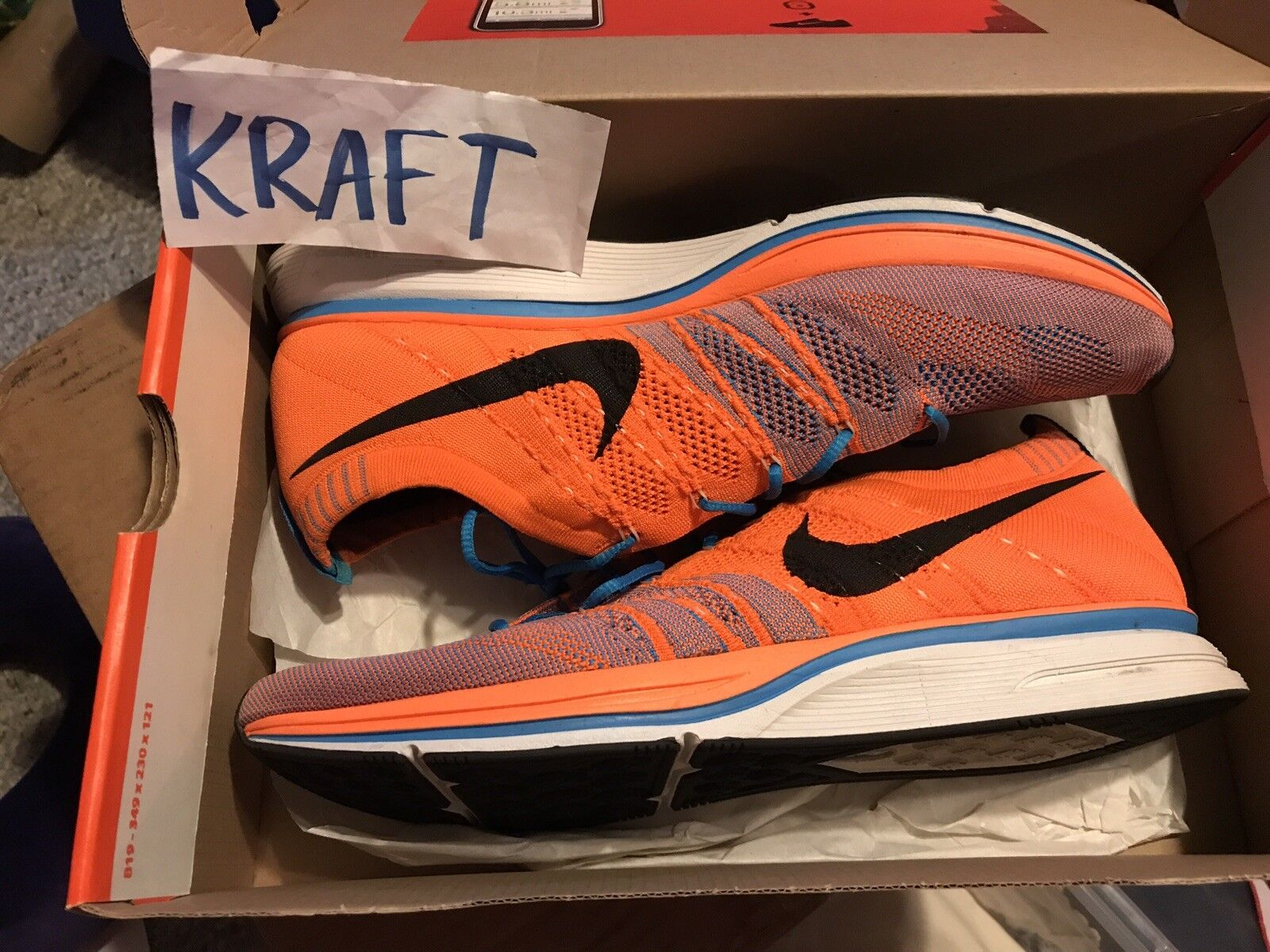 Nike Flyknit Trainer Orange/blue  Cheap and fashionable