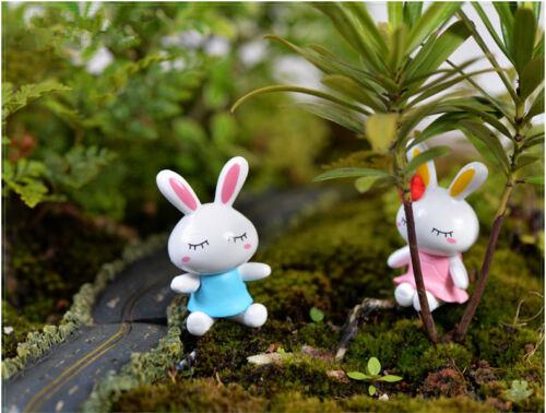 Mini 2 Pcs Miniature Dogs or Rabbits Dollhouse Decor Supplies Furniture Handmade