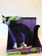 Animated Gemmy Black Cat Motion Light Eyes Sound Singing Halloween Prop Used