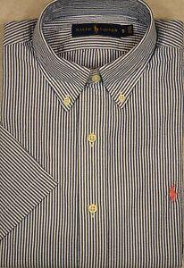 Ralph Lauren Shirt Baby Blue Mens Poplin Button-Front 2XLT 3XB 3XLT NWT $110