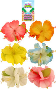 Hawaiian-Hibiscus-Flower-Hair-Clip-Luau-Tropical-Garland-Hen-Party