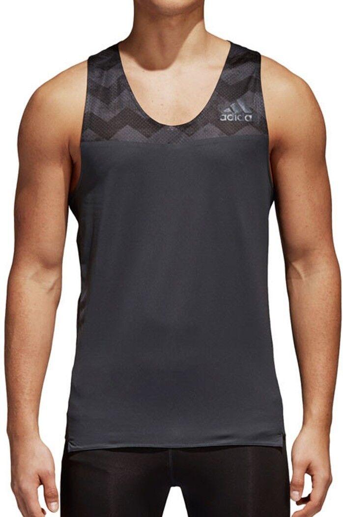 Adidas Adizero Mens Running Singlet - Grey