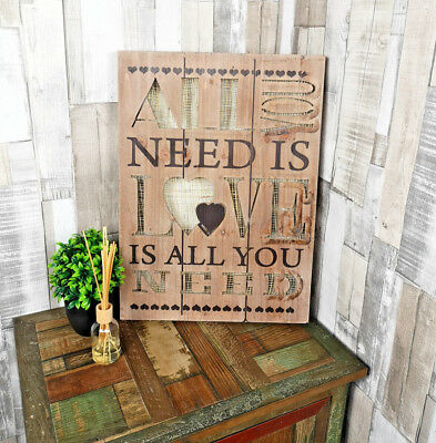 All You Need Is Love Wall Hanging or Freestanding Light Up Mirrored Plaque