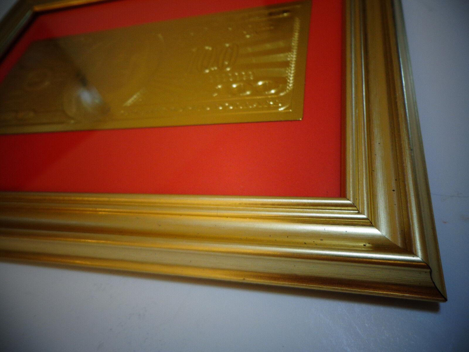 24 KARAT 999.9/% GOLD USA *2009 *$10 DOLLAR BILL-FRAMED RARE LIMITED PRODUCTION