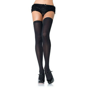 51ed81081f0 LEG AVENUE - Opaque Thigh Highs - 6672 - Black - One Size BNIP