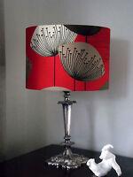 12/30cm Sanderson Dandelion Clocks Fabric Red Lamp/ceiling Shade