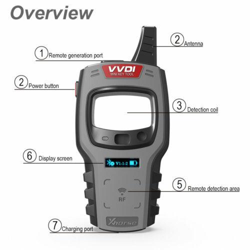Xhorse VVDI Mini Key Tool Remote Progarmmer Support TP transponde Global Version