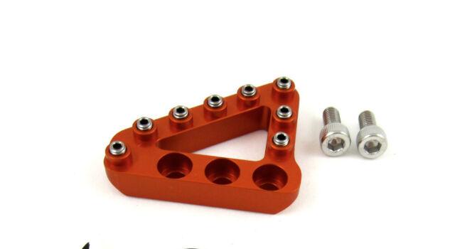 Hammerhead CNC Rear Brake Pedal Tip Large Orange KTM SX EXC XC 450 500 530