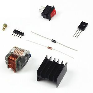 High-Voltage-Transformer-15KV-Booster-Coil-Inverter-Heat-sink-Switch-Diode-UK