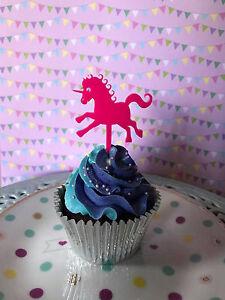 Pleasant Unicorn Cupcake Topper Happy Birthday Cake Decor Girls Birthday Personalised Birthday Cards Xaembasilily Jamesorg