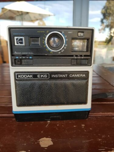 hard to find Kodak EK6 instant retro camera as is