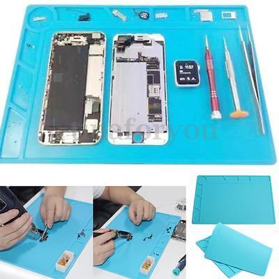 34*23cm Heat Insulation Silicone Pad Desk Mat Soldering Repair for Mobile Phone