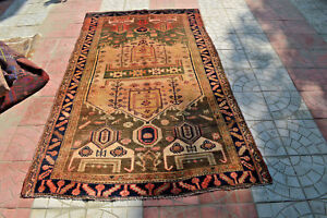 Antique-Tribal-Nomad-Carpet-Beautiful-Pictorial-Pattern-Tribal-Rug-Antique-Nomad