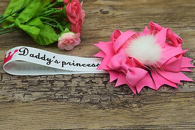 Stunning magnetic pram charm corsage  rhinestone diamonte in pink