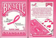 Pink Ribbon Deck Bicycle Playing Cards Poker Size USPCC Limited Ed Breast Cancer