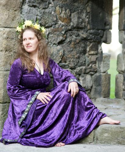 Medieval-LARP-Gothic-Cosplay-Wicca HIGH PRIESTESS PURPLE PAGAN-GODDESS Dress