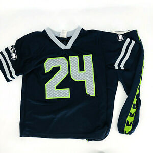 Details about Seattle Seahawks Unisex Youth Marshawn Lynch Football Jersey and Pant Set Sz M/L