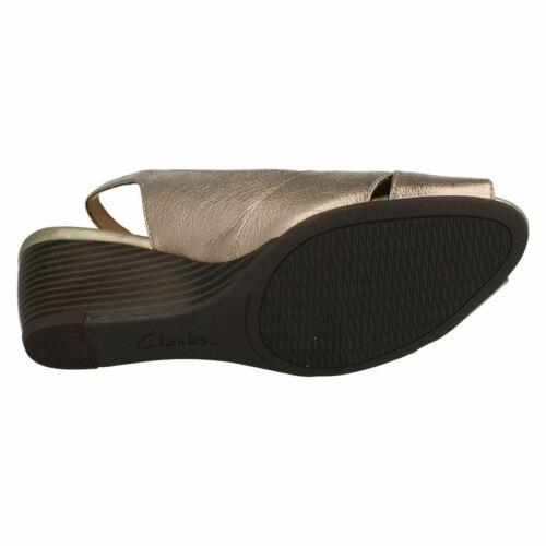 Slingback Wedge Brielle Heel Kae Gold Toe Leather Sandals Womens Peep 7w8q1FF