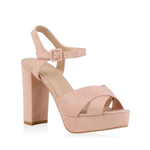 Damen Abiball Sandaletten Hochzeit Party High Heels Hohe 820880 Trendy Neu