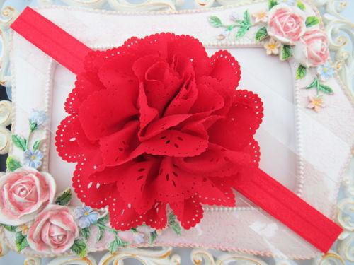 Baby Mädchen Blumen Haarband Stirnband Kopfband Haarblüte Haarschmuck