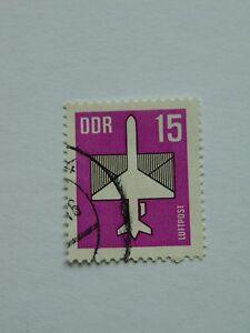 DDR Flugpostmarke 1987 15 Pfennig(.) mit Plattenfehler Mi 3128 I