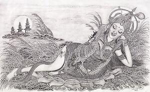 Hand-painting-Balinese-Shridevi-Dewi-Sri-Padi-327