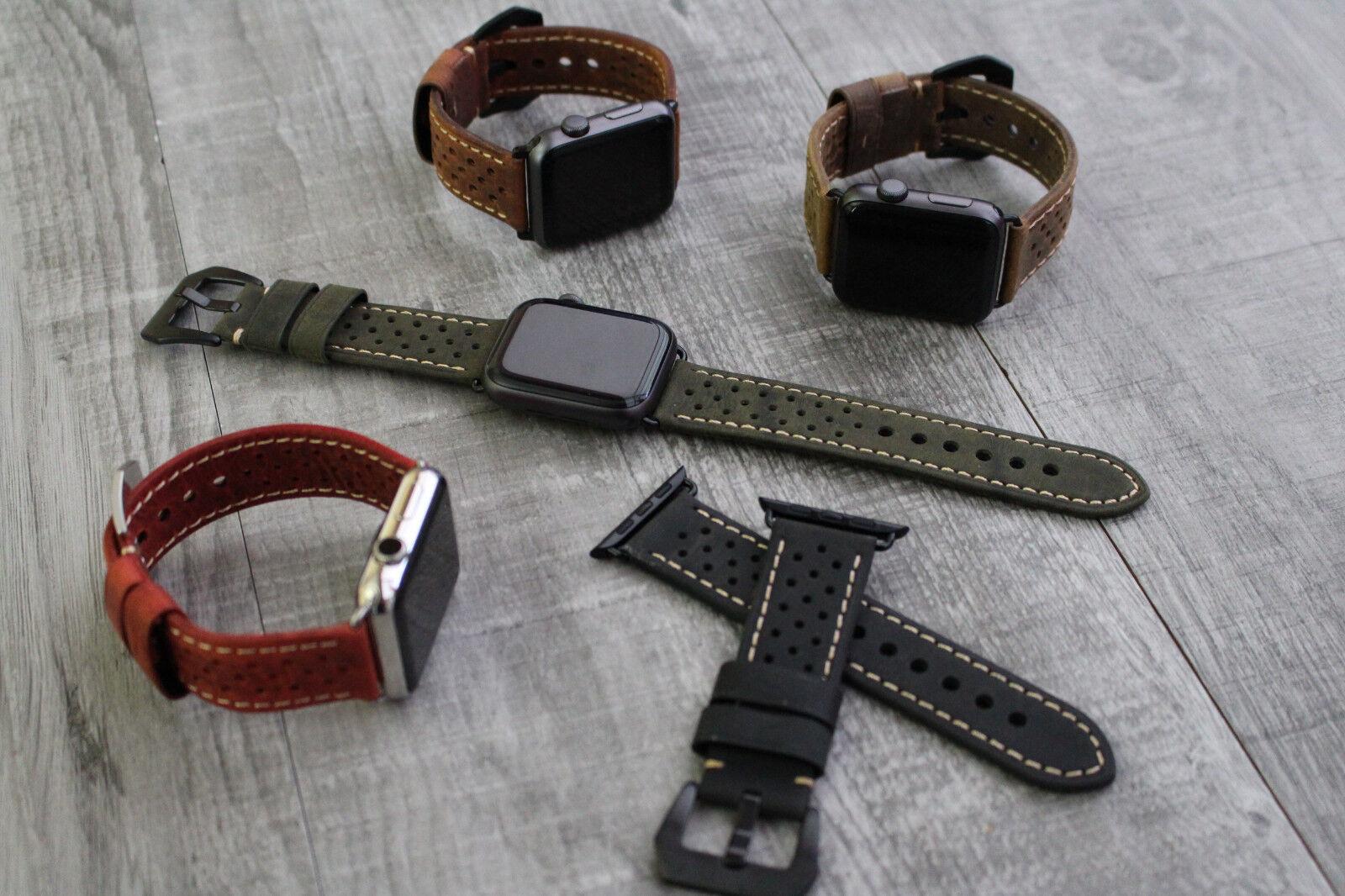 iwatch: Per Orologio Apple Serie 5 4 38/40/42/44mm Qualità Pelle Polso Cinghia Iwatch