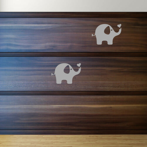 2 Aufkleber Elefant 10cm grau Tattoo Dumbo Auto Möbel Tür Fenster Deko Folie