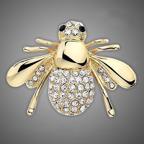 Stunning Crystal /& Enamel Honey Bee Brooch Pin Insect Bug Hat Lapel Pin Badge