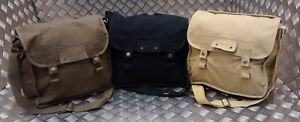 Military-Type-ARMY-Canvas-Haversack-Shoulder-Bag-Festival-Asst-Cols-NEW