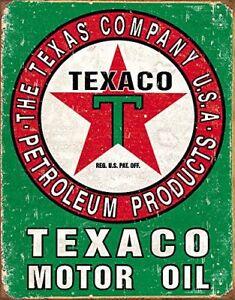 Texaco-Motor-Oil-Vintage-Retro-Tin-Metal-Sign-13-x-16in