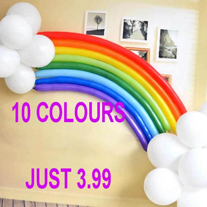 260Q New LONG MAGIC Balloons Random Colours Latex Traditional Modelling X 100 uk