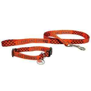 Handmade Cleveland Browns Nylon Dog Collar