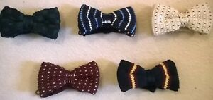 Knitted-wool-bow-tie-Vintage-style-neck-bowtie-NEW-Fashionable-Party-or-wedding