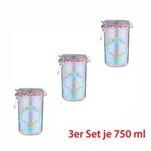 Axentia 3er Set Einmachgläser 750 ml Einmach Glas mit Drahtbügel | eBay