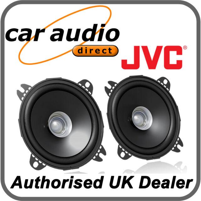 "JVC CS-J410X 10cm 4"" 210W DualCone Car Stereo Audio Speakers Door Shelf New Pair"