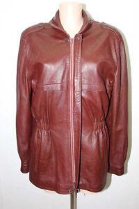 46 T46 Retro Homme S Marron Vintage Cuir Veste 5PxqZx