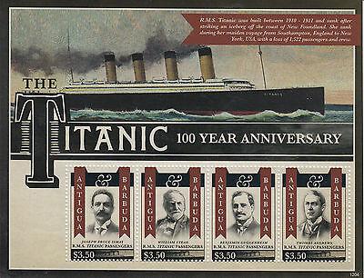 Antigua & Barbuda 2012 MNH Titanic 100 Year Anniversary 4v M/S Sinking RMS